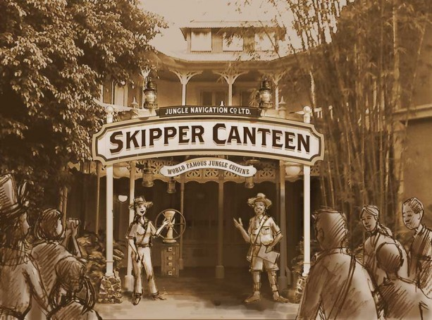 Jungle Cruise Themed Skipper's Canteen Open at Magic Kingdom for Walk Up Service.