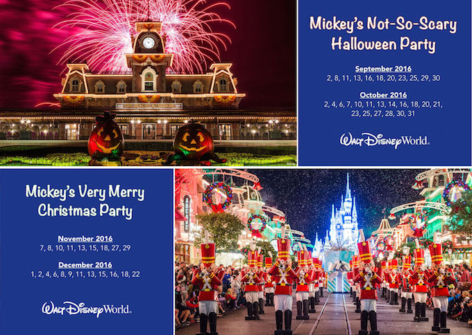 Magic Kingdom Holiday Events (MNSSHP & MVMCP), Dates & Ticket Prices