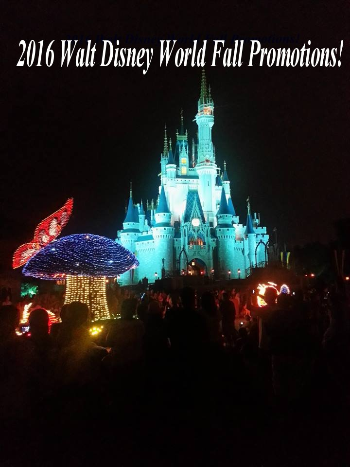 2016 Fall Promotions for Walt Disney World Resort