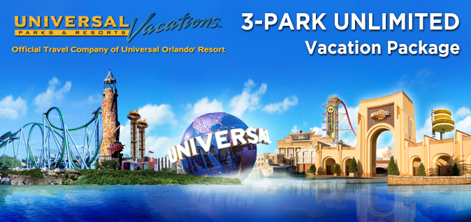 Universal Parks & Resorts  – 3 Park Unlimited Vacation Packages