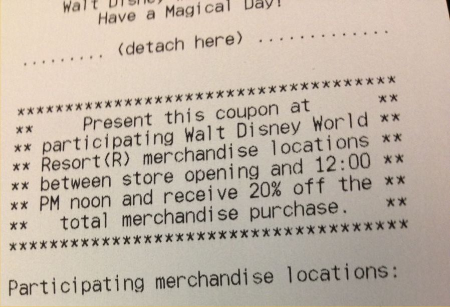Quick Service Shopping Discount Coupons Return to Walt Disney World!