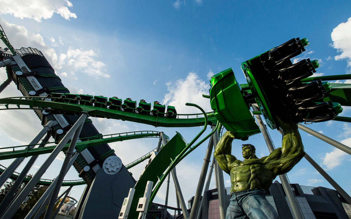 FUN FACTS BEHIND THE INCREDIBLE HULK COASTER'S NEW MARQUEE