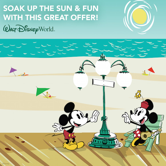 SOAK UP THE FUN & SUN AND SAVE UP TO 25% ON ROOMS AT SELECT WALT DISNEY WORLD RESORT HOTELS!
