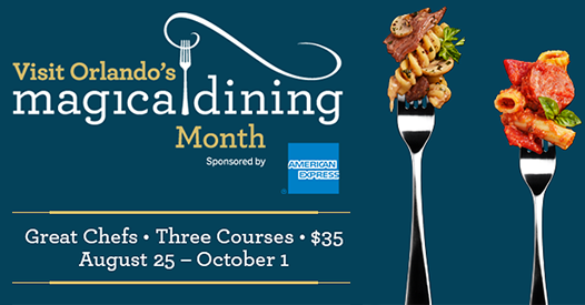 Select Walt Disney World Restaurants Participating in Visit Orlando's Magical Dining Month Event