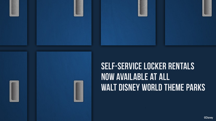 Self-Service Locker Rentals Now Available at Disney's Theme Parks