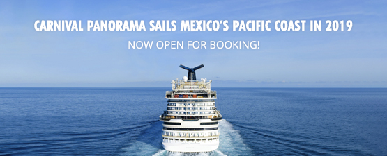 New Carnival Panorama Now Available For 2019 West Coast Bookings!