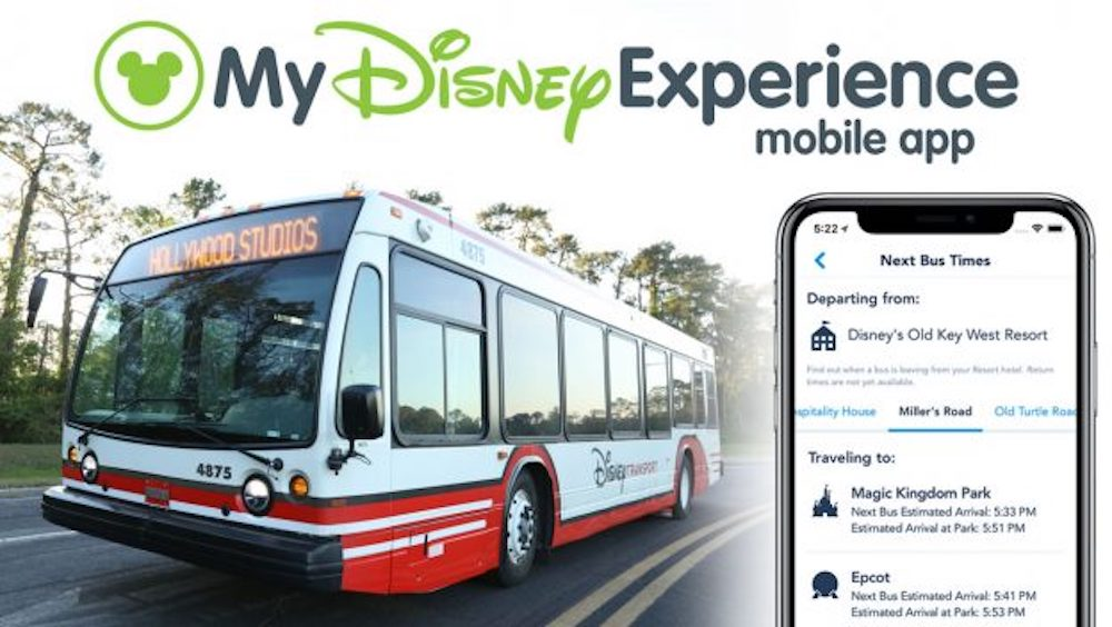Bus Times at Walt Disney World Resort Now Available in Newly Redesigned My Disney Experience App