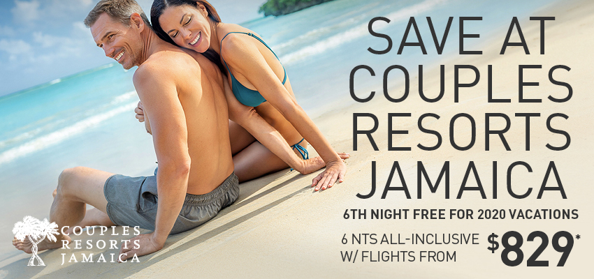 Get a FREE Night at Couples Resorts Jamaica!