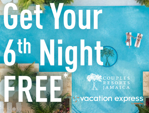 Couples Resorts Jamaica – Get Your 6th Night FREE!