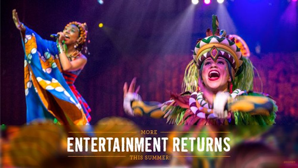 A Celebration of 'Festival of the Lion King' at Disney's Animal Kingdom Returns This Summer !