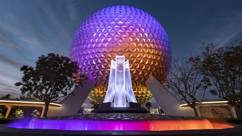 First Look: New Entrance Fountain Celebrates the Past, Present and Future of EPCOT