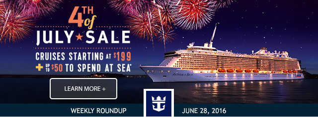 Royal Caribbean – Fourth of July Weekend Sale!