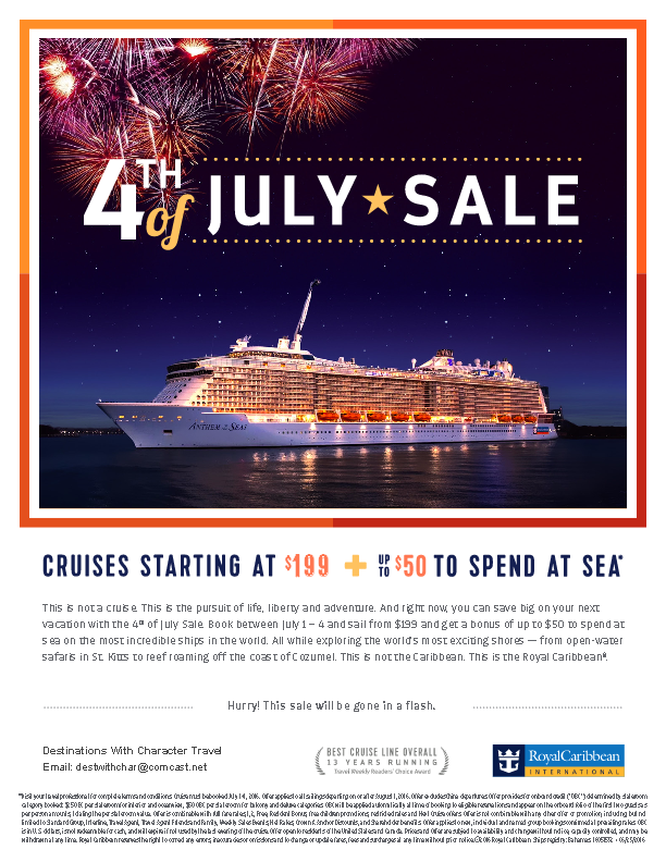 RCL 4th of July Sale