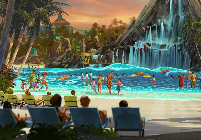General Overview of Universal's Volcano Bay Water Park