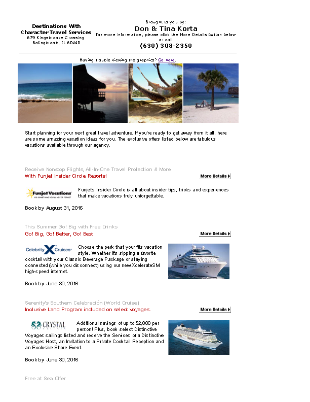 Vacationdotcom offers