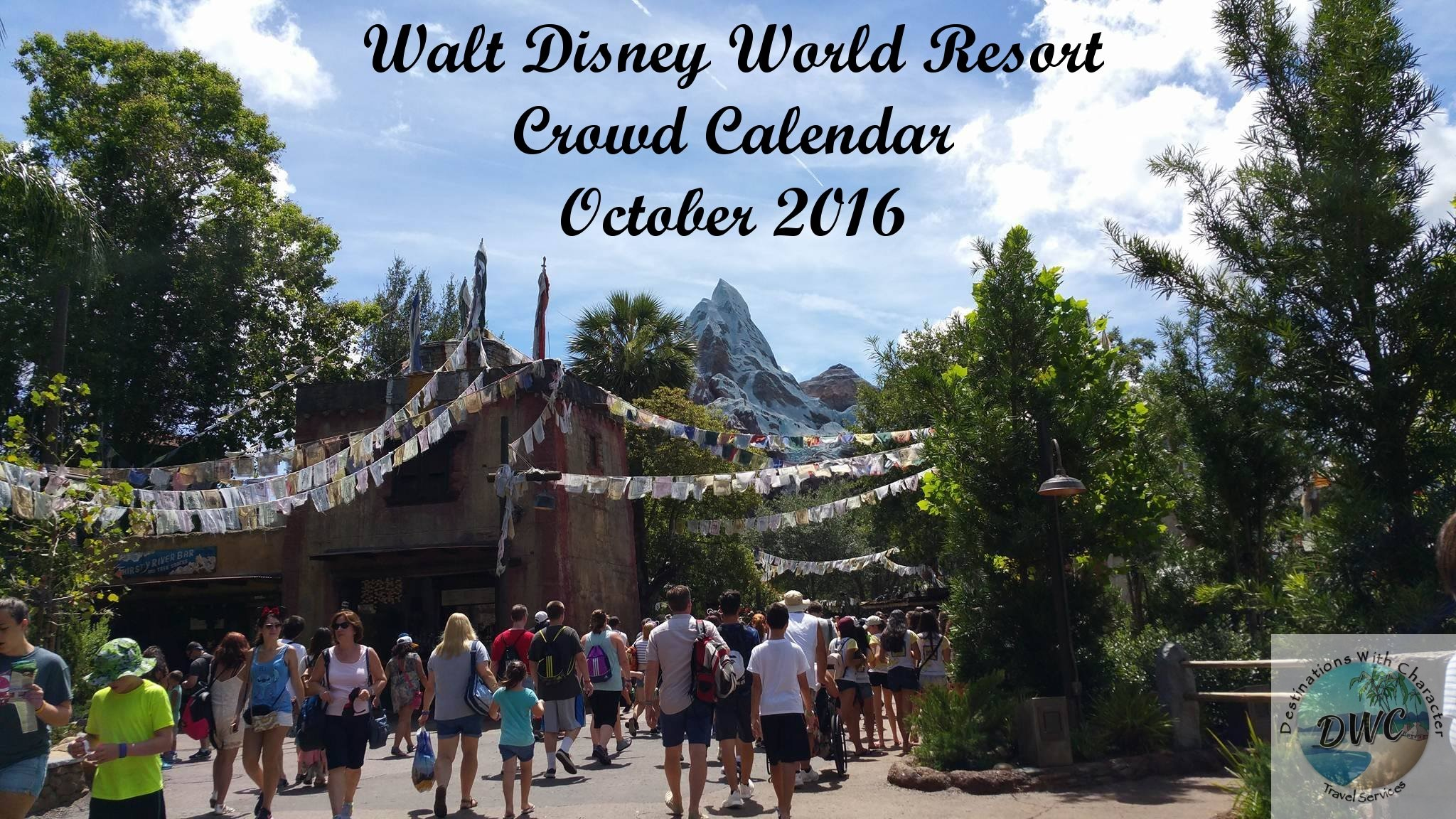 October 2016 Walt Disney World Resort Crowd Calendar