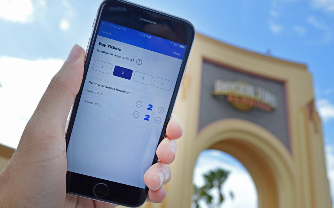 TICKET IN-APP COMES TO THE OFFICIAL UNIVERSAL ORLANDO RESORT APP