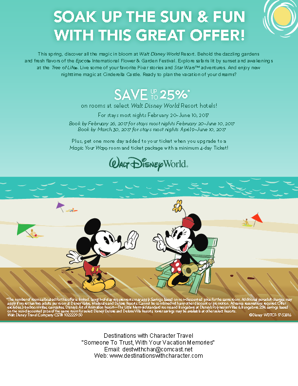 WDW Spring 25% Off