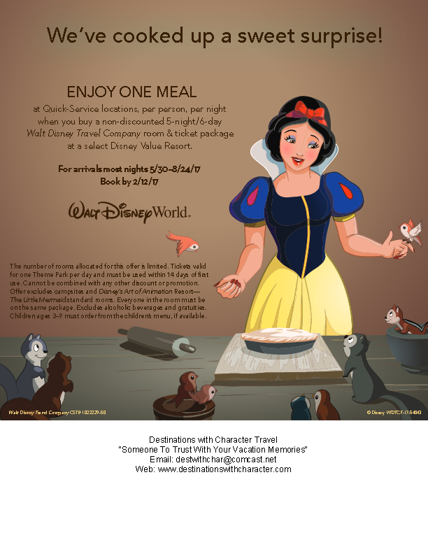 WDW Spring Free Quick Service Offer