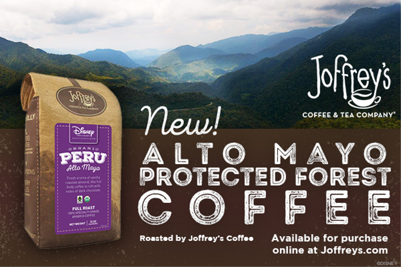 Disney Parks and Resorts to Begin Serving Joffrey's Alto May Protected Forest Coffee
