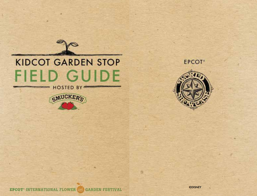 New Kidcot Garden Stop Field Guide Now Available at Epcot