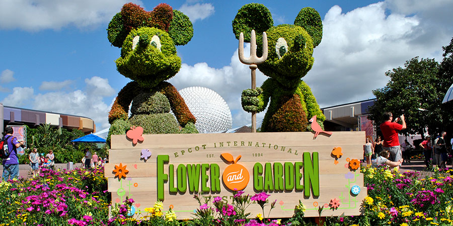 2018 Epcot International Flower & Garden Festival Offering a Greatest Hits of the 60's, 70's, 80's, 90's and 2000's This Year