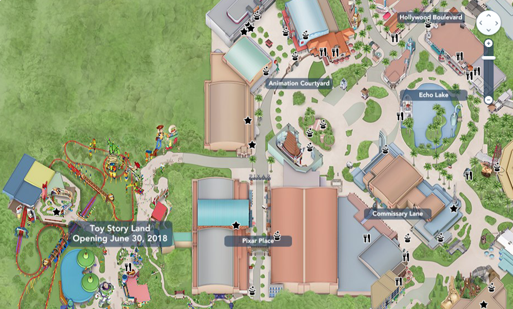 Toy Story Land Digital Maps Debut Online