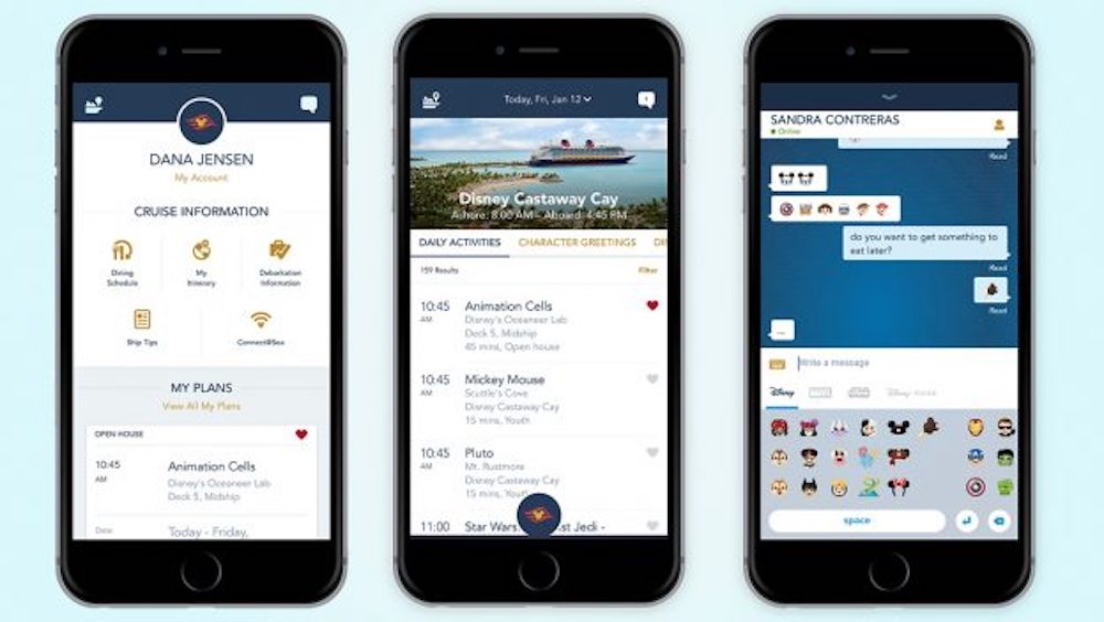 Disney Cruise Line Debuts New Design and Enhanced Features in Onboard Mobile App