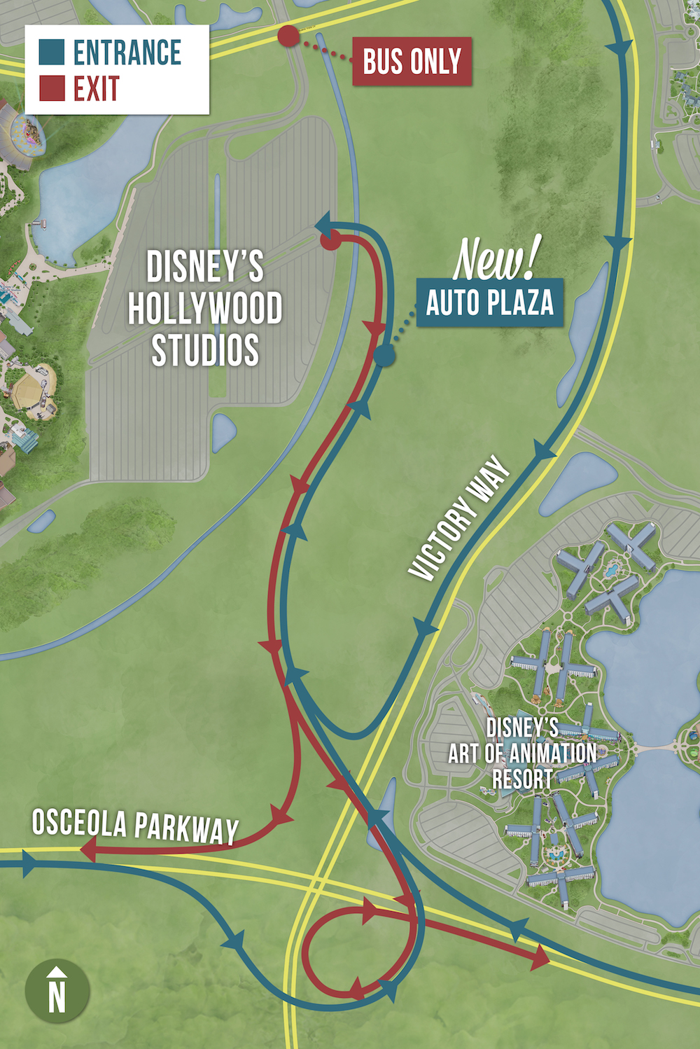 New Automobile Entrance at Disney's Hollywood Studios Opens Nov. 8 Continuing Park's Arrival Experience Transformation