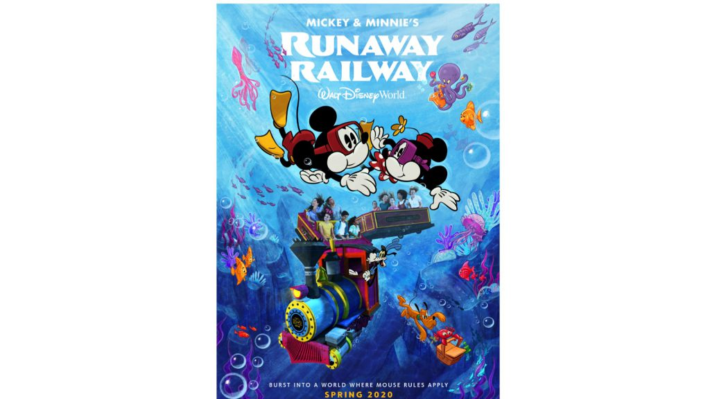 New Poster Unveiled for Mickey & Minnie's Runaway Railway Attraction at Disney's Hollywood Studios