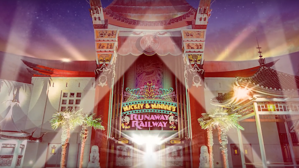 Making the Mickey & Minnie's Runaway Railway Marquee – All In The Details