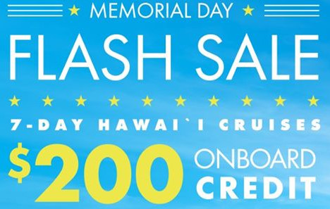 Norwegian Cruise Line Memorial Day Flash Sale!