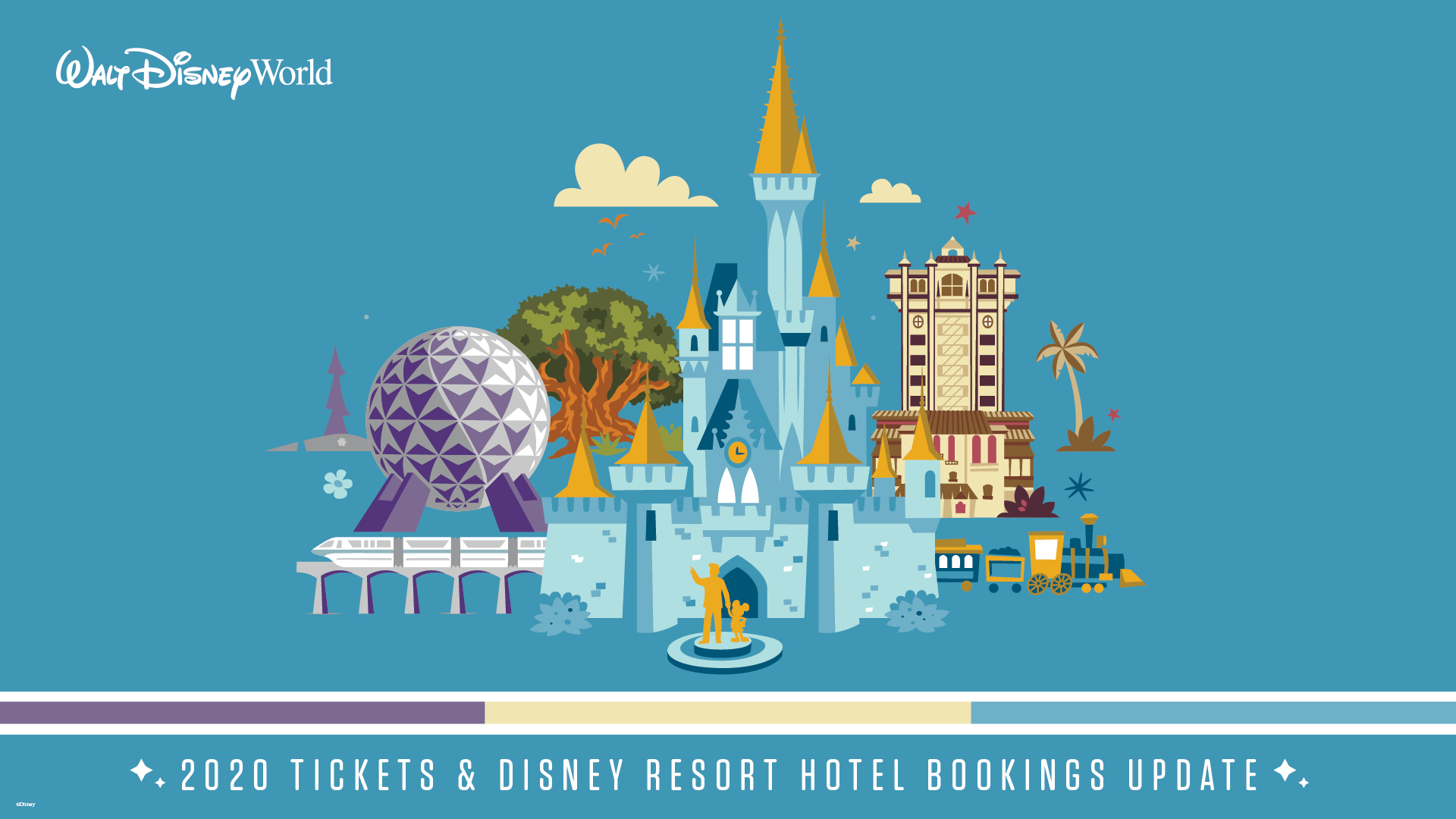 Walt Disney World Resort 2020 Theme Park Tickets and Disney Resort Hotel Bookings Now Available