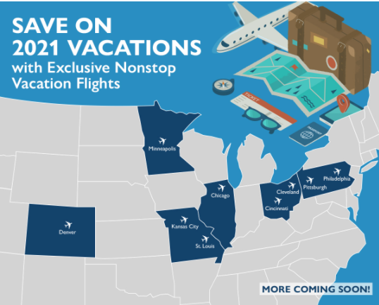 SOAR TO GREATER HEIGHTS: 2020 & 2021 VACATION PACKAGE SPECIALS NOW AVAILABLE!
