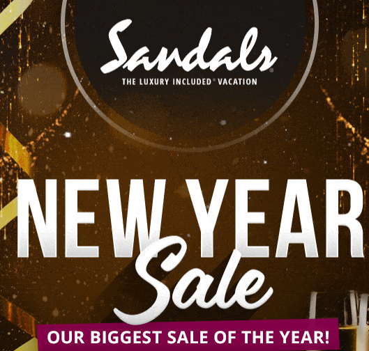 Our Sandals Resorts New Year Sale Makes You Look Forward to Sunshiny Paradise